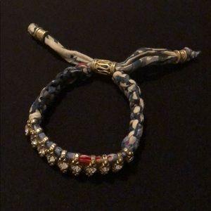 Jewelry - Multi-Color Fabric and Gemstone Bracelet